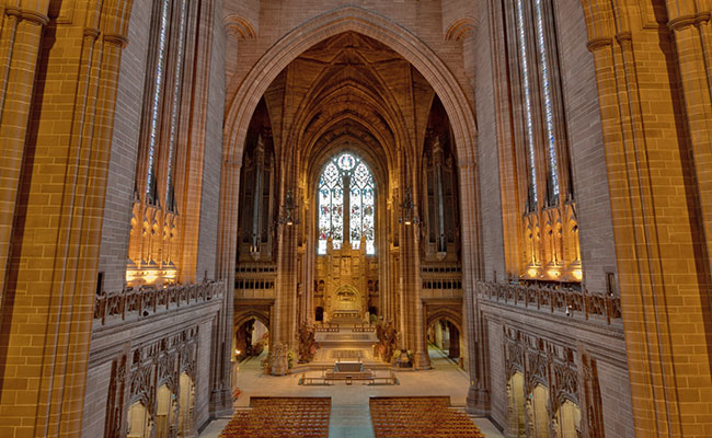 Interior of Liverpool Cathedral, Church of England